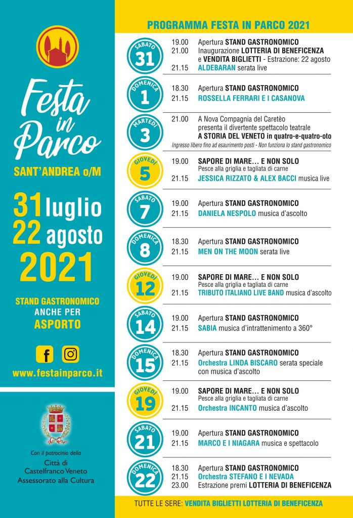 Programma Festa in Parco 2021